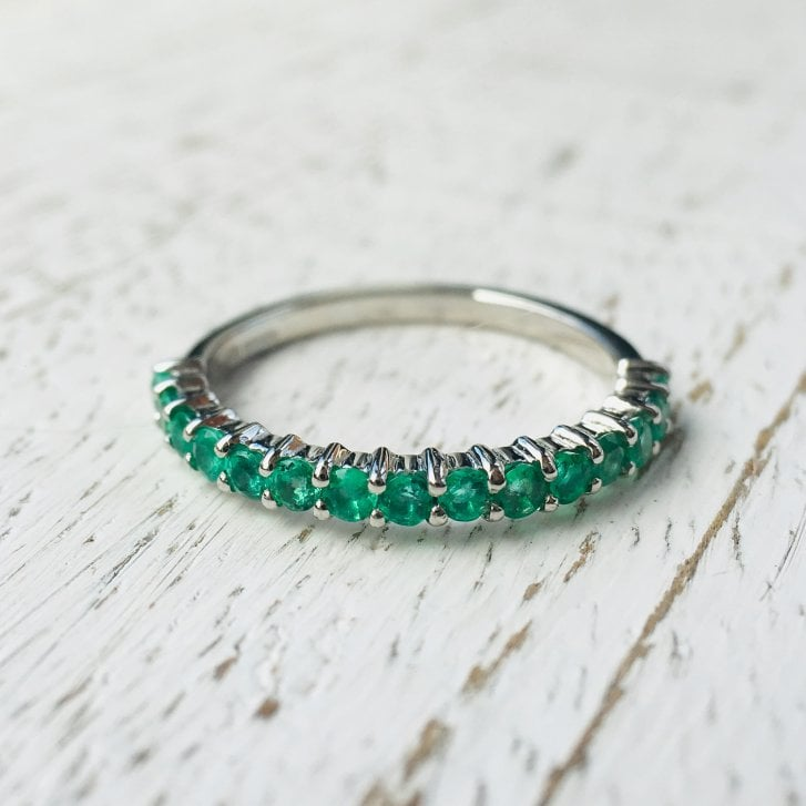 Lila's 2mm Platinum Emerald Half Eternity