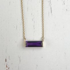 Amethyst Baguette Necklace
