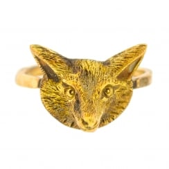 Lila's Conversion Early 20th Century Fox Head Ring