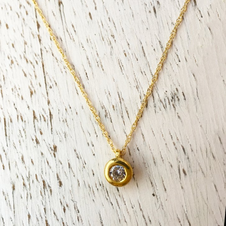 Lila's Diamond Solitaire Necklace