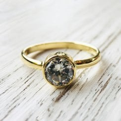 Diamond Solitaire Ring in Fairtrade Yellow Gold