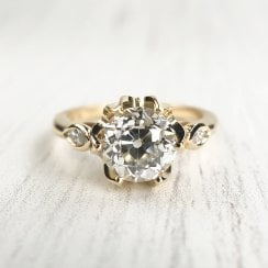Fairtarde gold and recycled Old European Diamond Engagement Ring