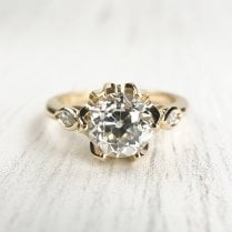 Fairtrade gold and recycled Old European Diamond Engagement Ring