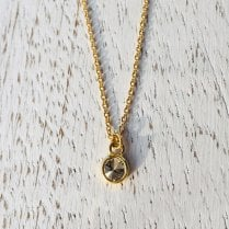 Lila's Fairtrade Gold Anti-diamond necklace