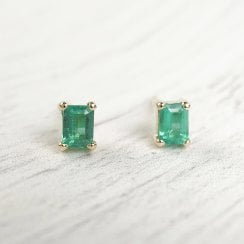 Fairtrade Gold Earrings with Brazilian Emeralds