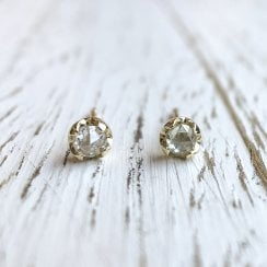 Fairtrade Gold Rose cut Diamond Stud Earrings