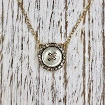 Late Victorian Button Pendant