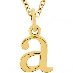 Lila's Lower Case Inital Pendants