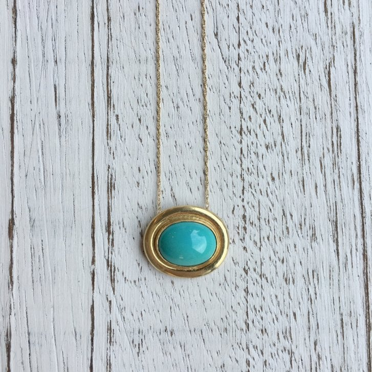 Lila's Oval Turquoise Necklace