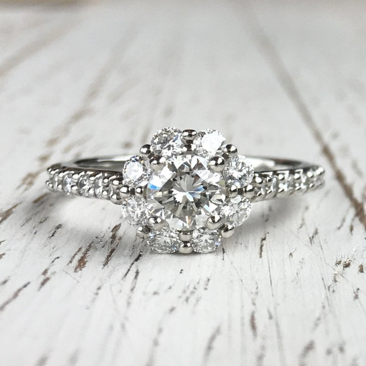 Lila's Platinum Diamond Cluster Ring