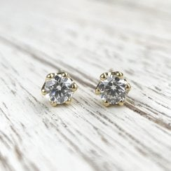 Lila's Recycled Diamond and Fairtrade Gold Studs