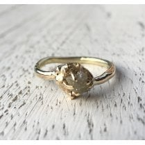Rough Diamond Yellow Gold Ring