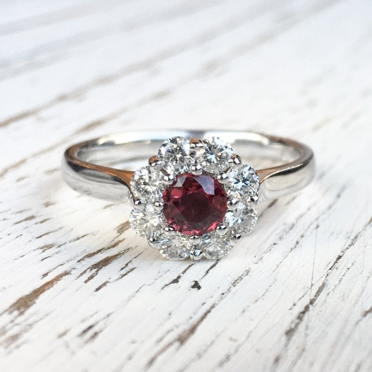 Lila's Ruby and Diamond Cluster Ring