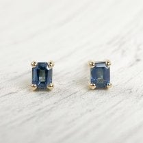 Sapphire Studs in 18ct Fairtrade Gold