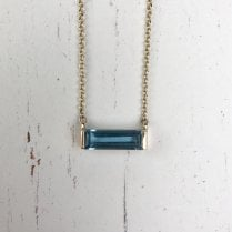 Topaz Baguette Necklace