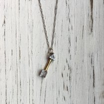 Vintage Diamond Arrow Necklace