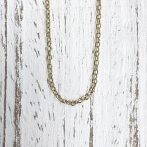 Yellow Gold 16 Inch Trace Chain