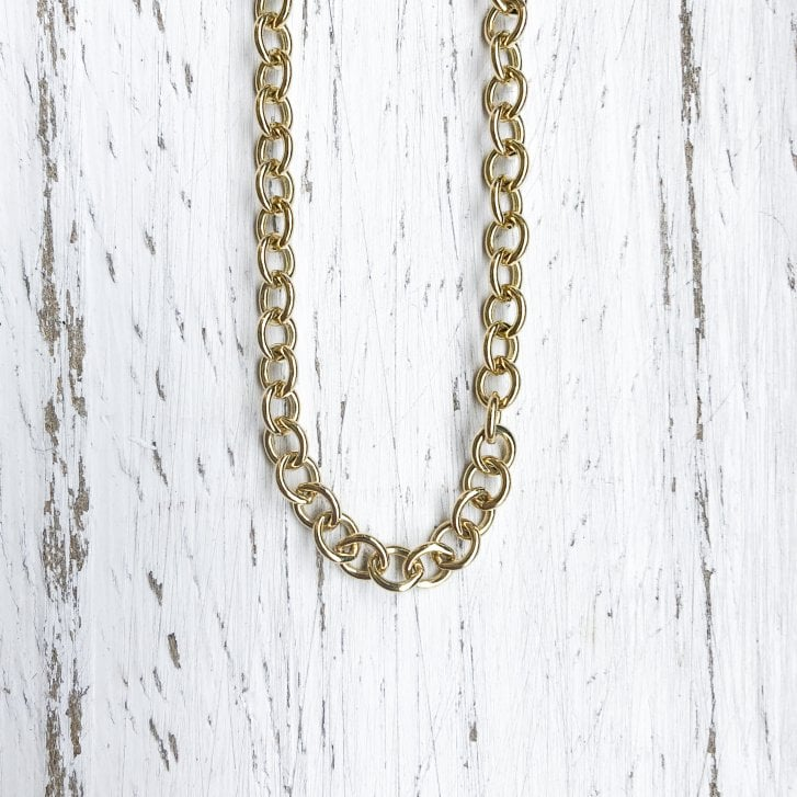 Long Trace Chain in Yellow Gold 26 Inches