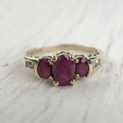 Man-Made Ruby Ring