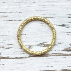 Marcel Salloum Plain Textured Gold Band