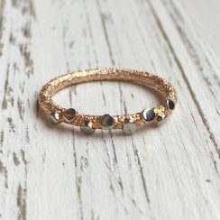 Marcel Salloum Rose Gold Textured Band with Discs
