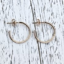Marcel Salloum Rose Gold Textured Hoops