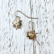 Yasmin Earrings in Rose Gold with Peridots