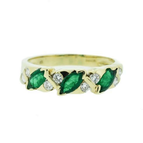 gold eternity alondra alexandrite emerald bands jewelry ring band white diamond and with