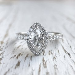Marquise Diamond Halo Ring