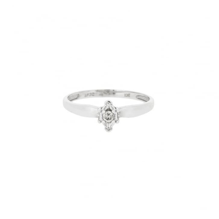 Marquise Ring with Round Diamond