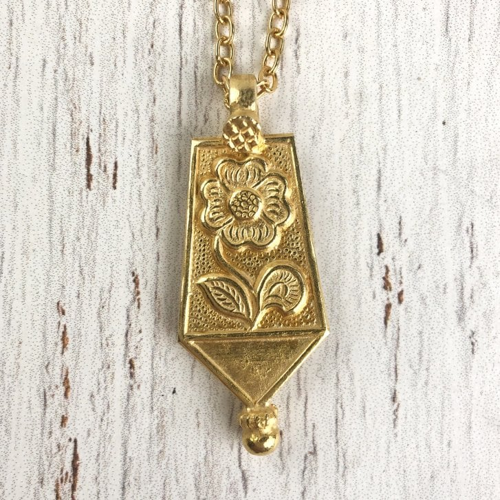 Mayd Gold Plated Silver Rajasthani Amulet Necklace