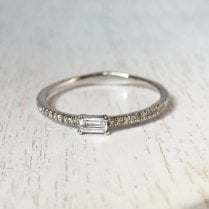 Mini Diamond Baguette Ring