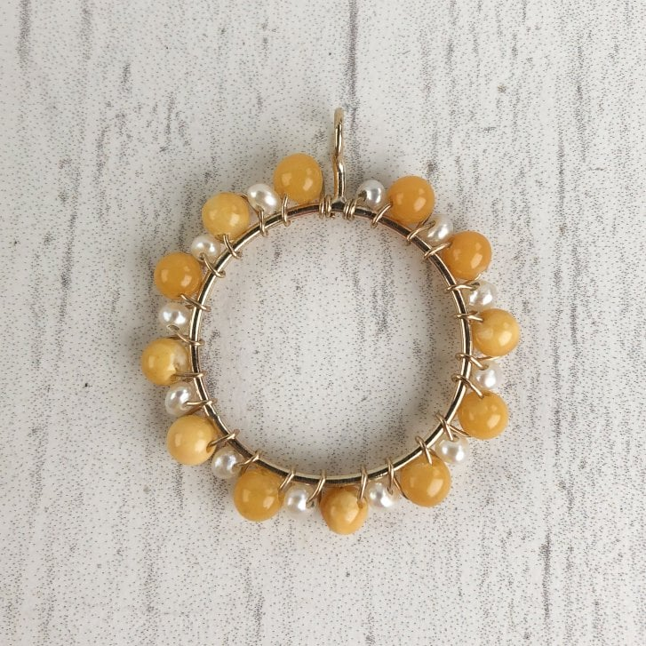 Molo Me Circus Pendant with Amber and Pearl