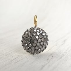 Diamond Disc Pendant in Silver