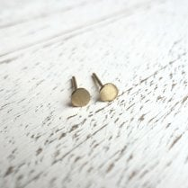 Molo Me Gold Disc Stud Earrings