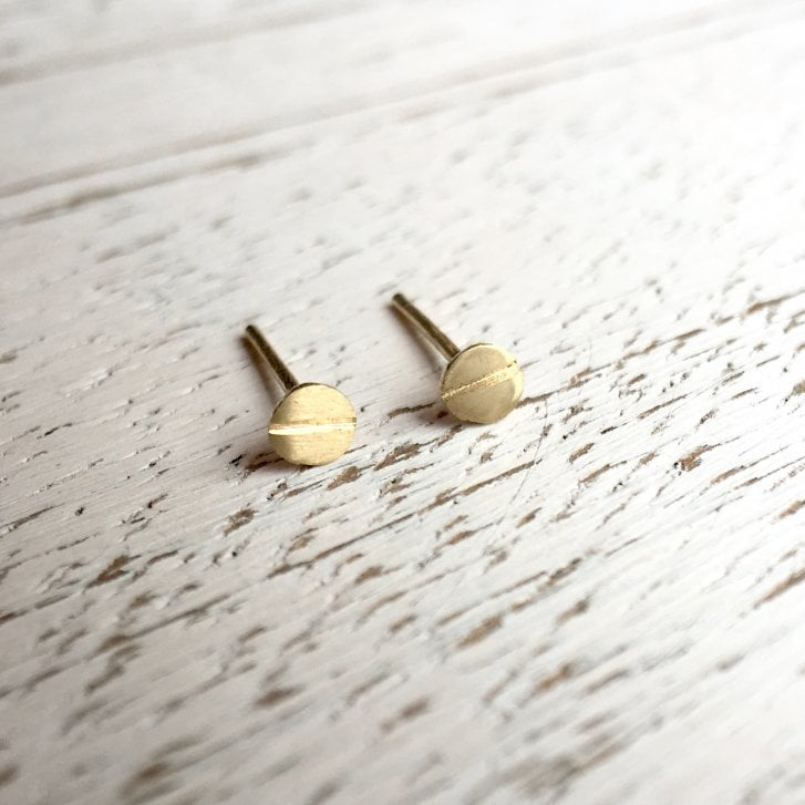 Molo Me Gold Screw Head Stud Earrings