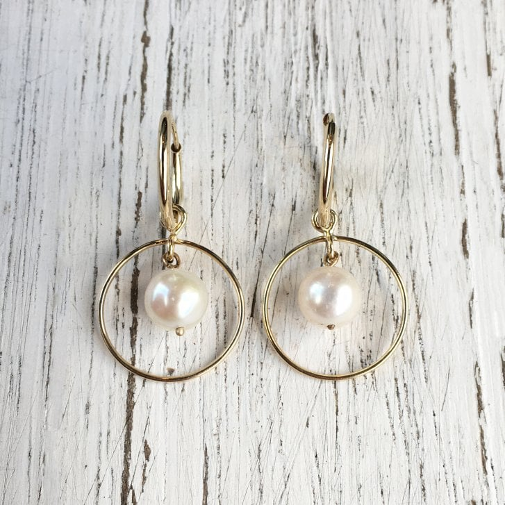 Molo Me Halo Pearl Hoop Earrings