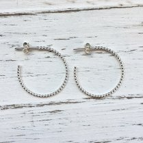 Molo Me Large Silver Rosary Hoops