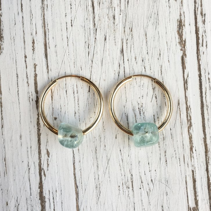 Molo Me Mama Ania Hoops with Aqua Pebble