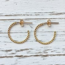 Molo Me Medium Rosary Hoops in Gold Plated Silver