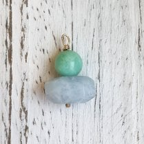 Molo Me Mint Chrysoprase and Aquamarine Gold Pendant