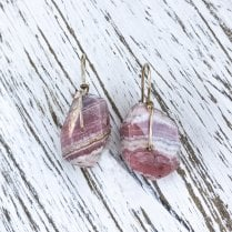 Molo Me Rhodochrosite Nugget Drop Earrings