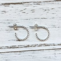 Molo Me Small Rosary Hoops in Silver