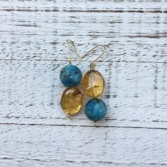 Molo Me Upside Down Earrings with Apatite and Citrine
