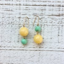 Molo Me Upside Down Earrings with Yellow Japser and Chrysoprase