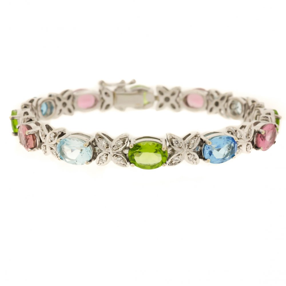 qvc gemstone ripka youtube diamonique sterling on watch bracelet judith multi
