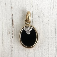 Onyx and Diamond Medallion