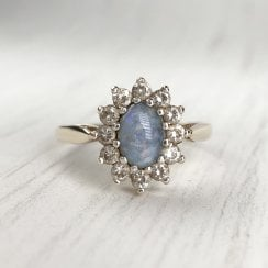 Opal Triplet and Paste Cluster Ring