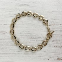 Oval Links Gold Bracelet