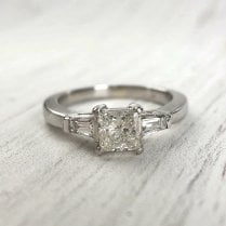 Preloved Platinum and Diamond Engagement Ring